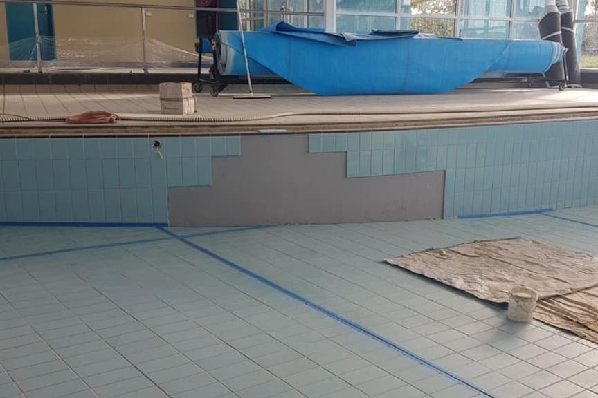 Municipal Pool Crack Repair