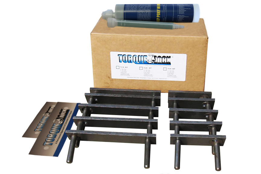 The TL-10 Torque Lock Staple Kit. Used for repairing up to 10 feet of structural cracking in concrete, gunite or solid cement structures. For pools, fountains, sea walls, foundations and more.